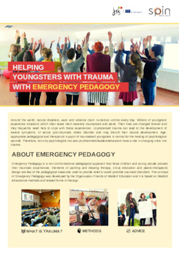 "E-Brochure ""Helping youngsters with trauma with Emergency pedagogy"""